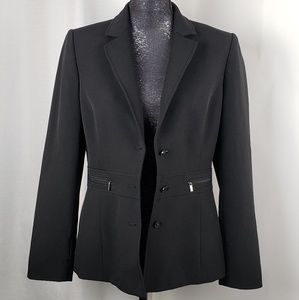 Tahari Black Blazer Size 8